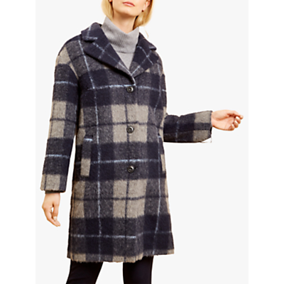 Fenn Wright Manson Brodie Check Coat, Navy Check