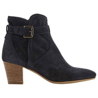 Dune Black Portsmouth Block Heel Ankle Boots