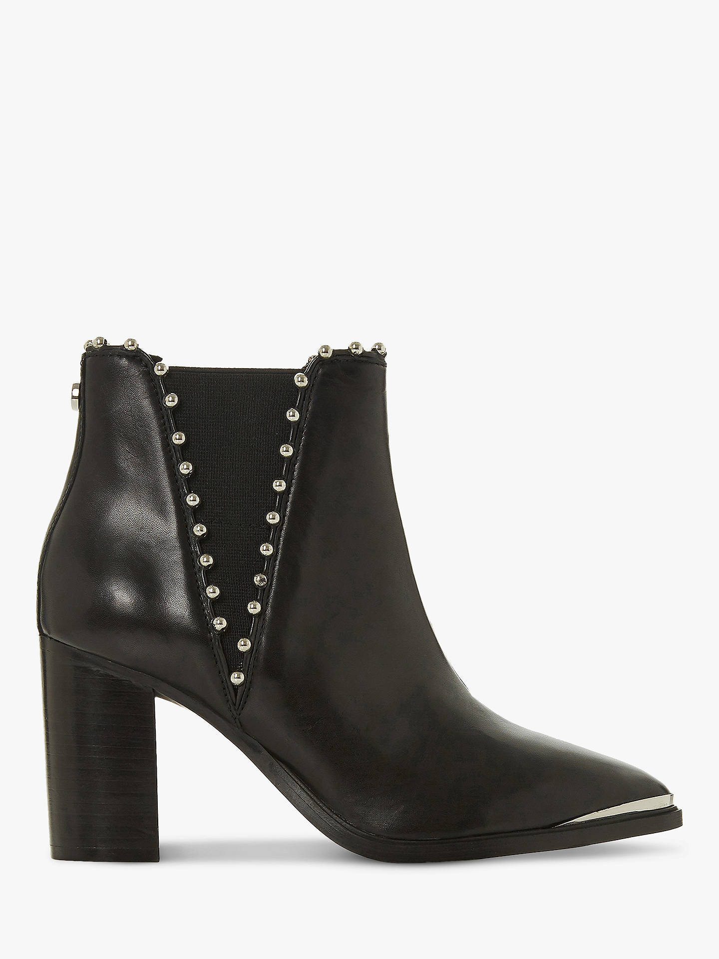 BuySteve Madden Himmer Beaded Ankle Boots, Black Leather, 3 Online at johnlewis.com