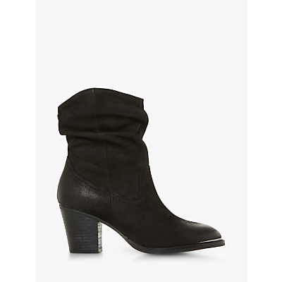 Steve Madden Olya Leather Ruched Heeled Boots