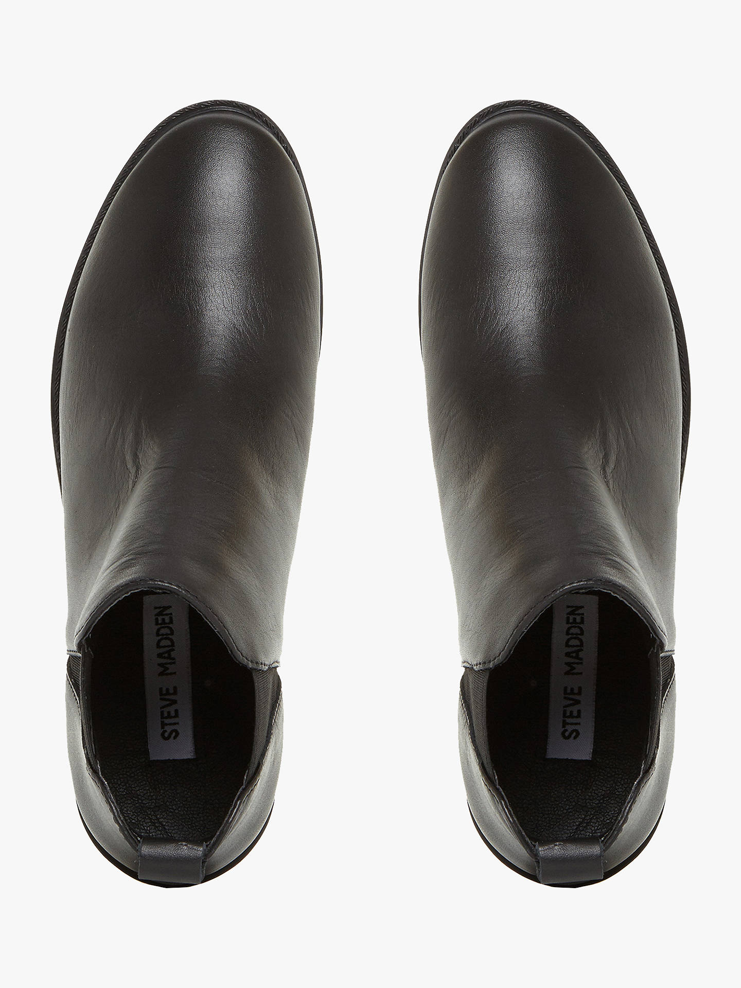 Buy Steve Madden Dante Pull On Ankle Boots, Black, 3 Online at johnlewis.com