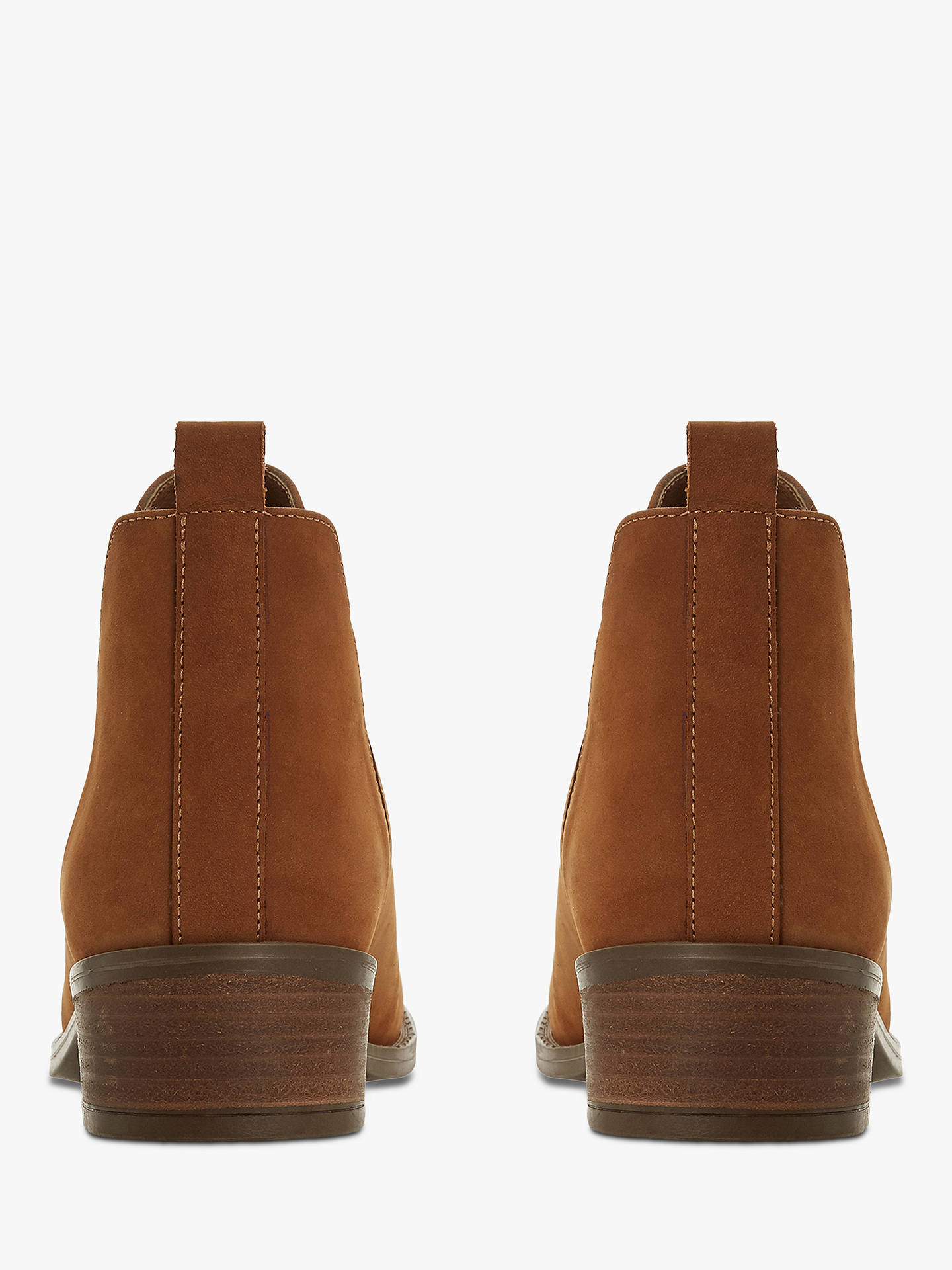 Buy Steve Madden Dante Block Heel Ankle Boots, Taupe Leather, 7 Online at johnlewis.com