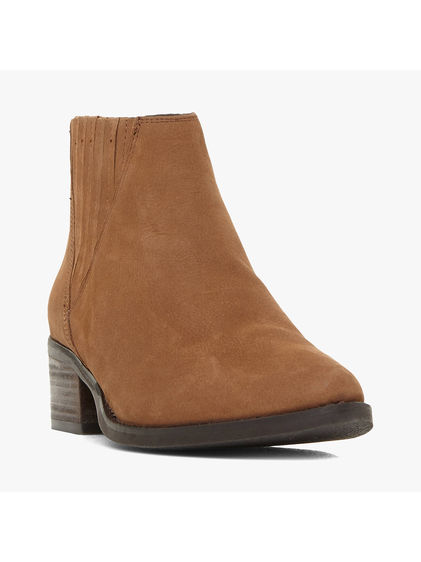 BuySteve Madden Always Stacked Heel Ankle Boots, Camel, 3 Online at johnlewis.com
