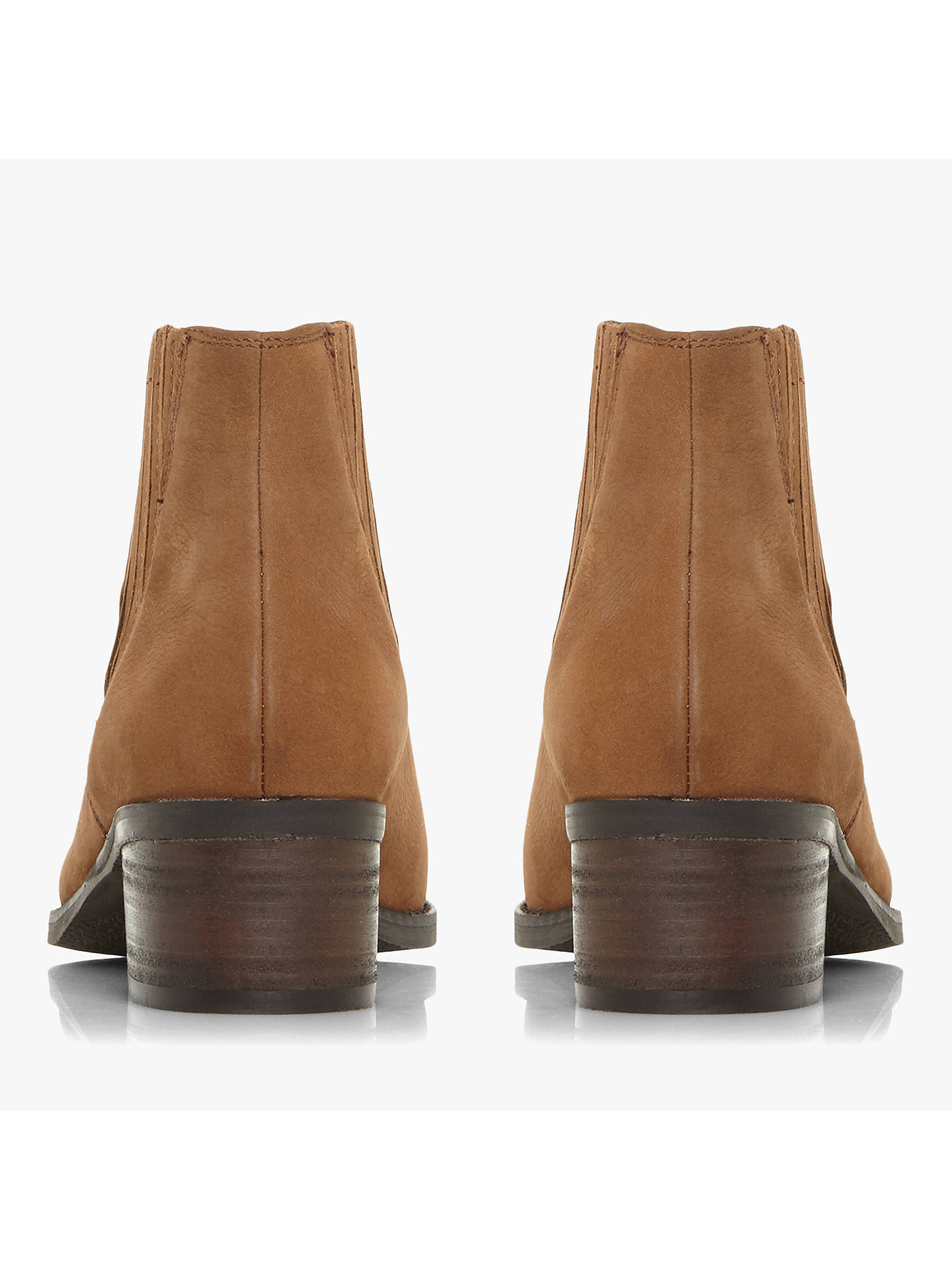 Buy Steve Madden Always Stacked Heel Ankle Boots, Camel, 5 Online at johnlewis.com