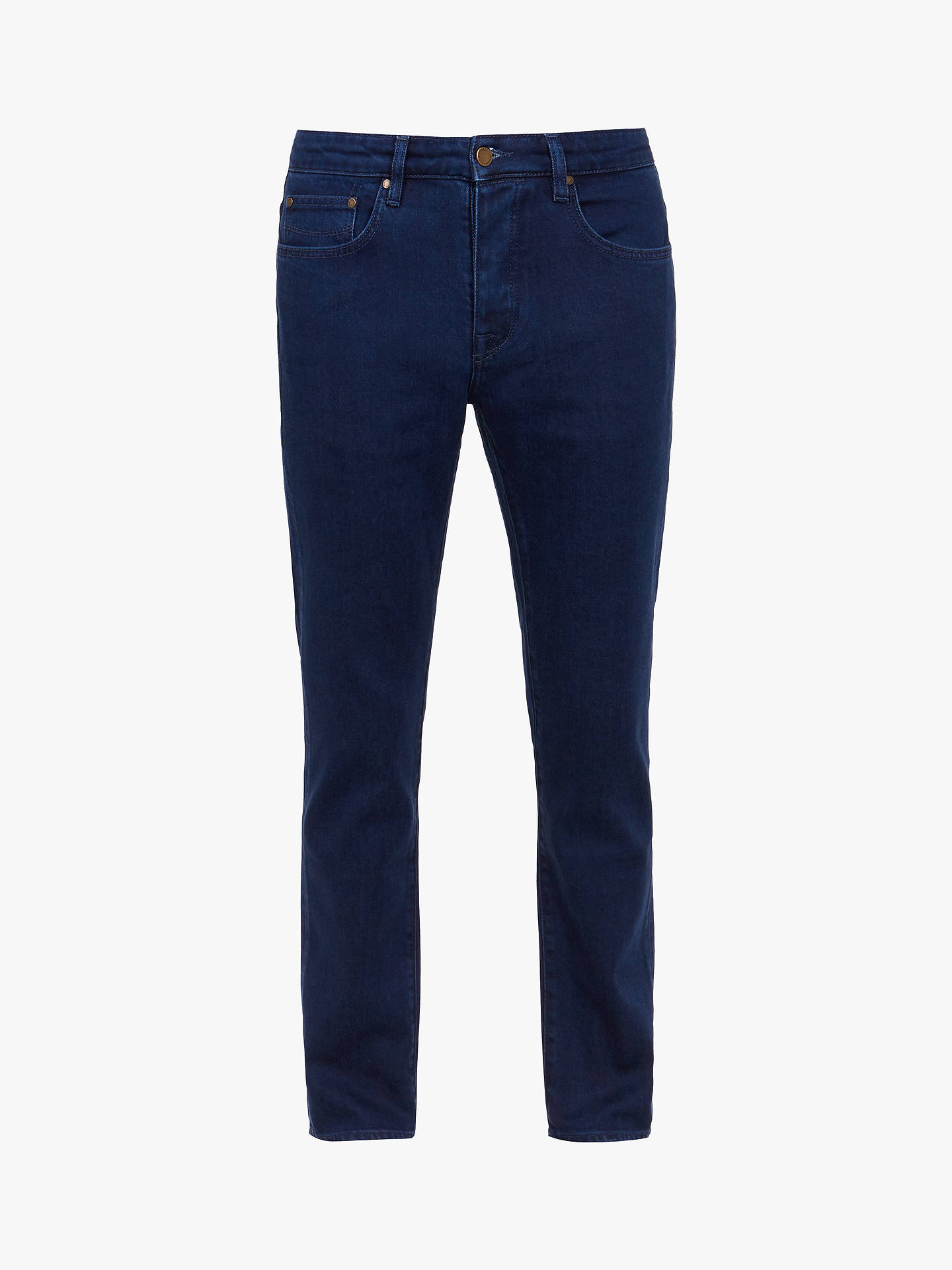 Buy Ted Baker Sary Straight Fit Jeans, Blue, 40S Online at johnlewis.com