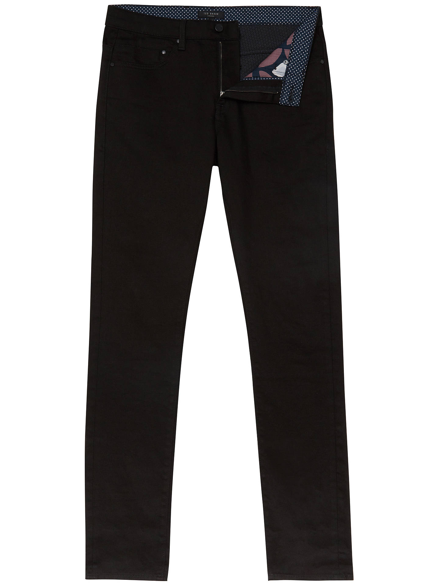 Buy Ted Baker Bunting Straight Fit Jeans, Black, 28L Online at johnlewis.com