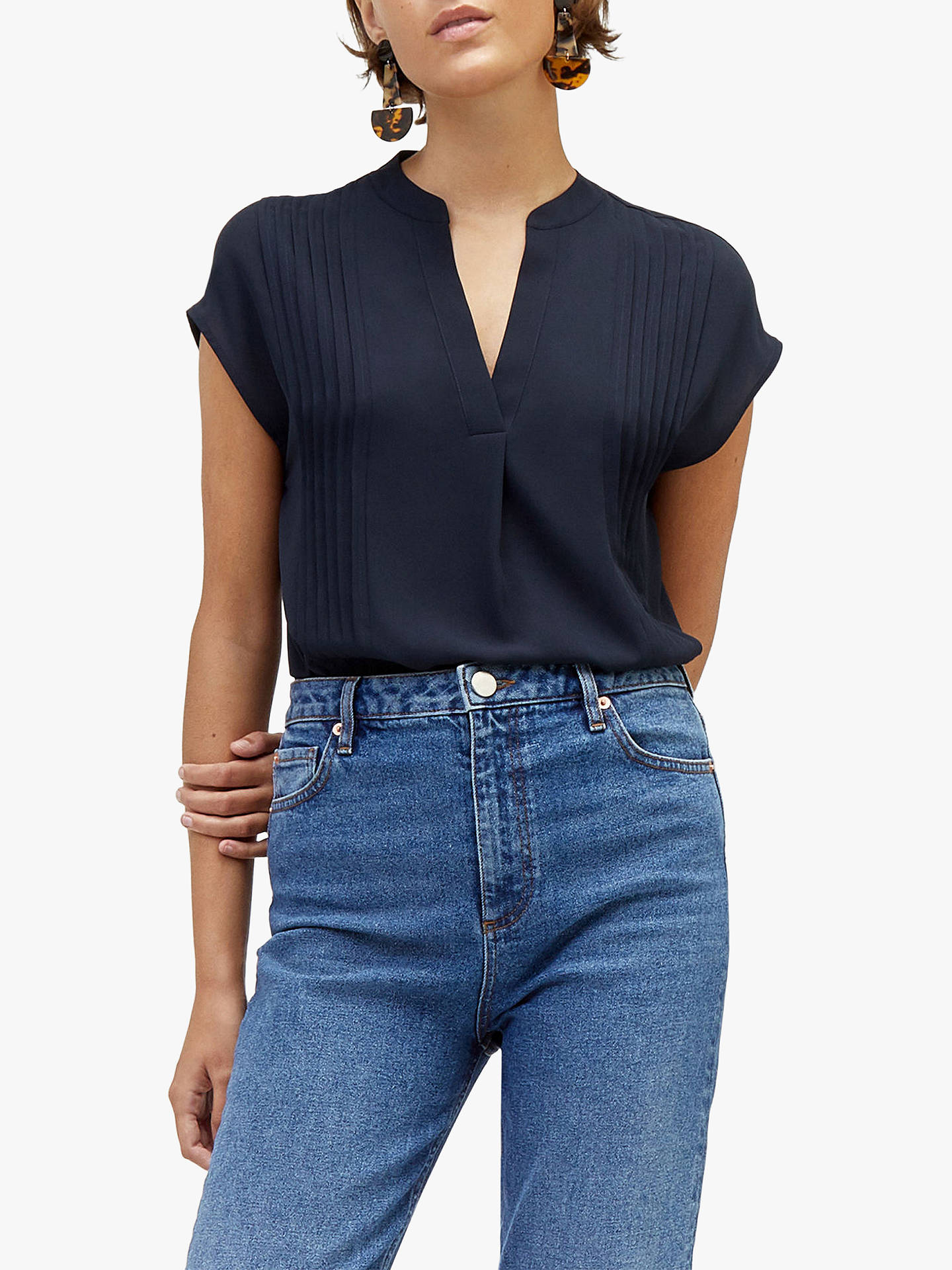 5d10aa8d850 Warehouse Pintuck Short Blouse at John Lewis   Partners