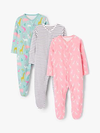 1cf54cb663a John Lewis   Partners Baby Safari GOTS Organic Cotton Sleepsuit