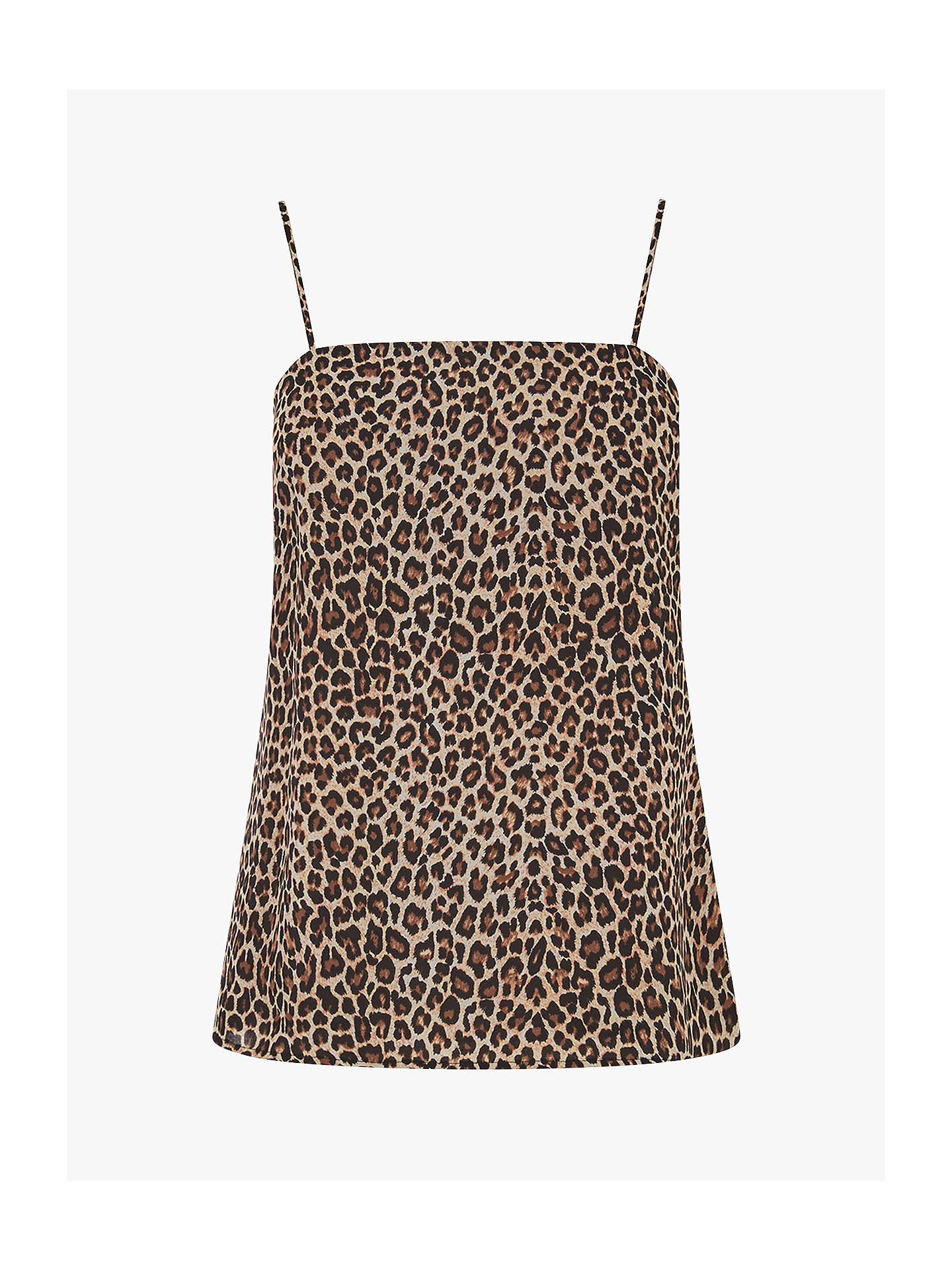 BuyOasis Square Neck Leopard Print Camisole Top, Multi, 12 Online at johnlewis.com
