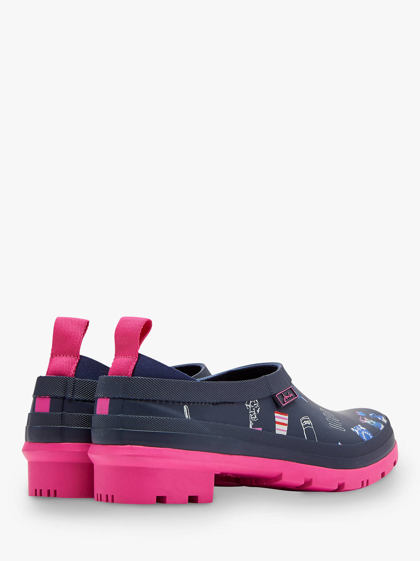 Buy Joules Pop On Waterproof Low Wellington Boots, Navy Garden, 8 Online at johnlewis.com