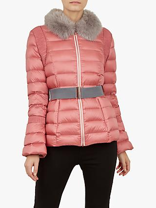 Ted Baker Yelta Quilted Down Jacket, Pink Light