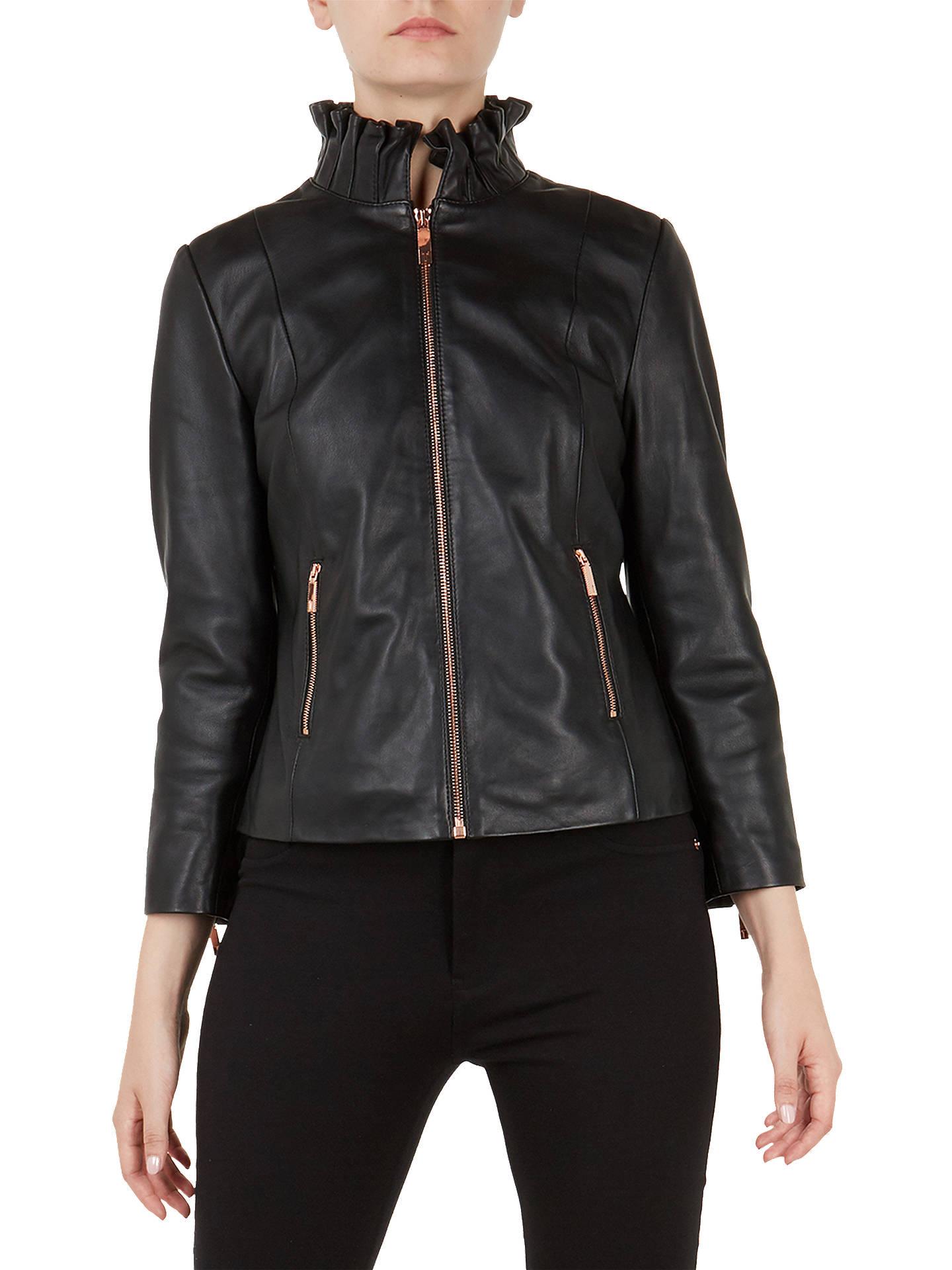 c5472d343ef31 Buy Ted Baker Trekma Frill Collar Leather Jacket