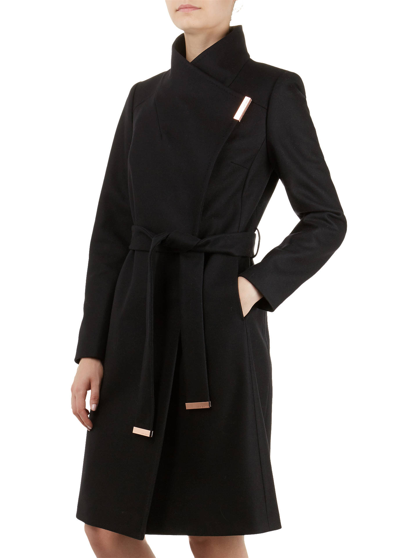 72c82303e53 Ted Baker Sandra Wool Blend Wrap Coat at John Lewis   Partners