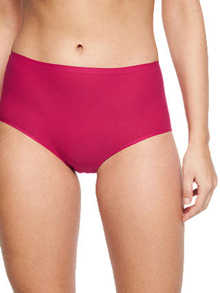 Buy Chantelle Soft Stretch High Waisted Briefs, Ruby, One Size Online at johnlewis.com