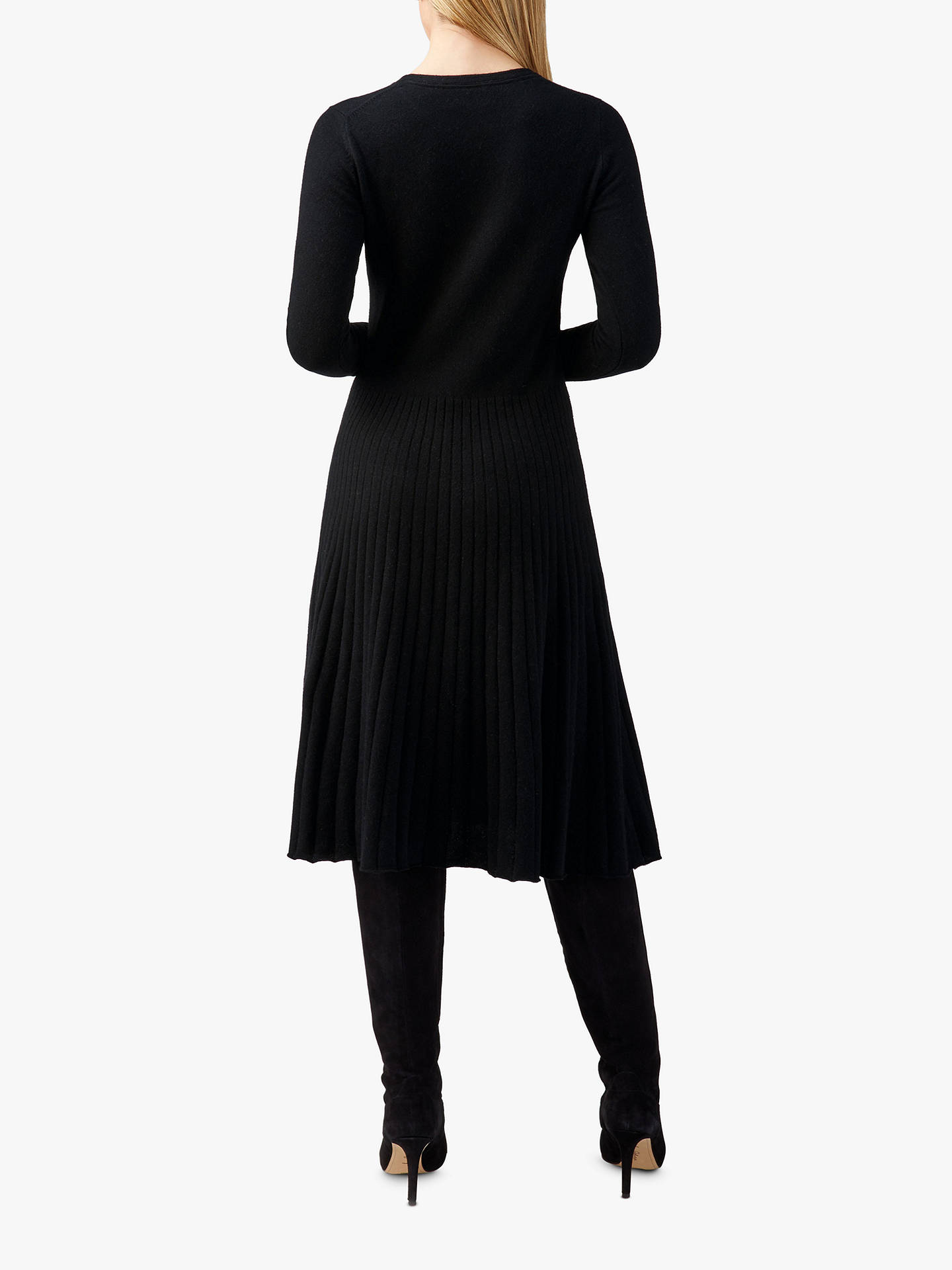 BuyPure Collection Toccato Knitted Dress, Black, 8 Online at johnlewis.com
