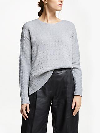 Modern Rarity Links Sparkle Stitch Jumper, Grey