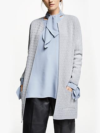 Modern Rarity Long Sparkle Stitch Cardigan, Grey