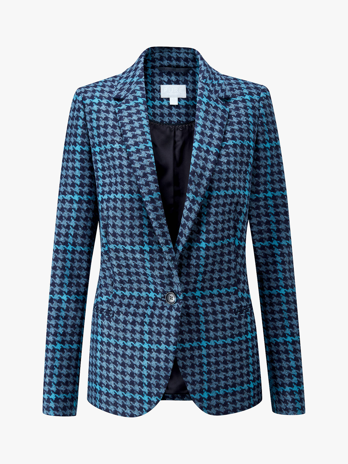 Buy Pure Collection Tailored Blazer, Blue Check, 18 Online at johnlewis.com