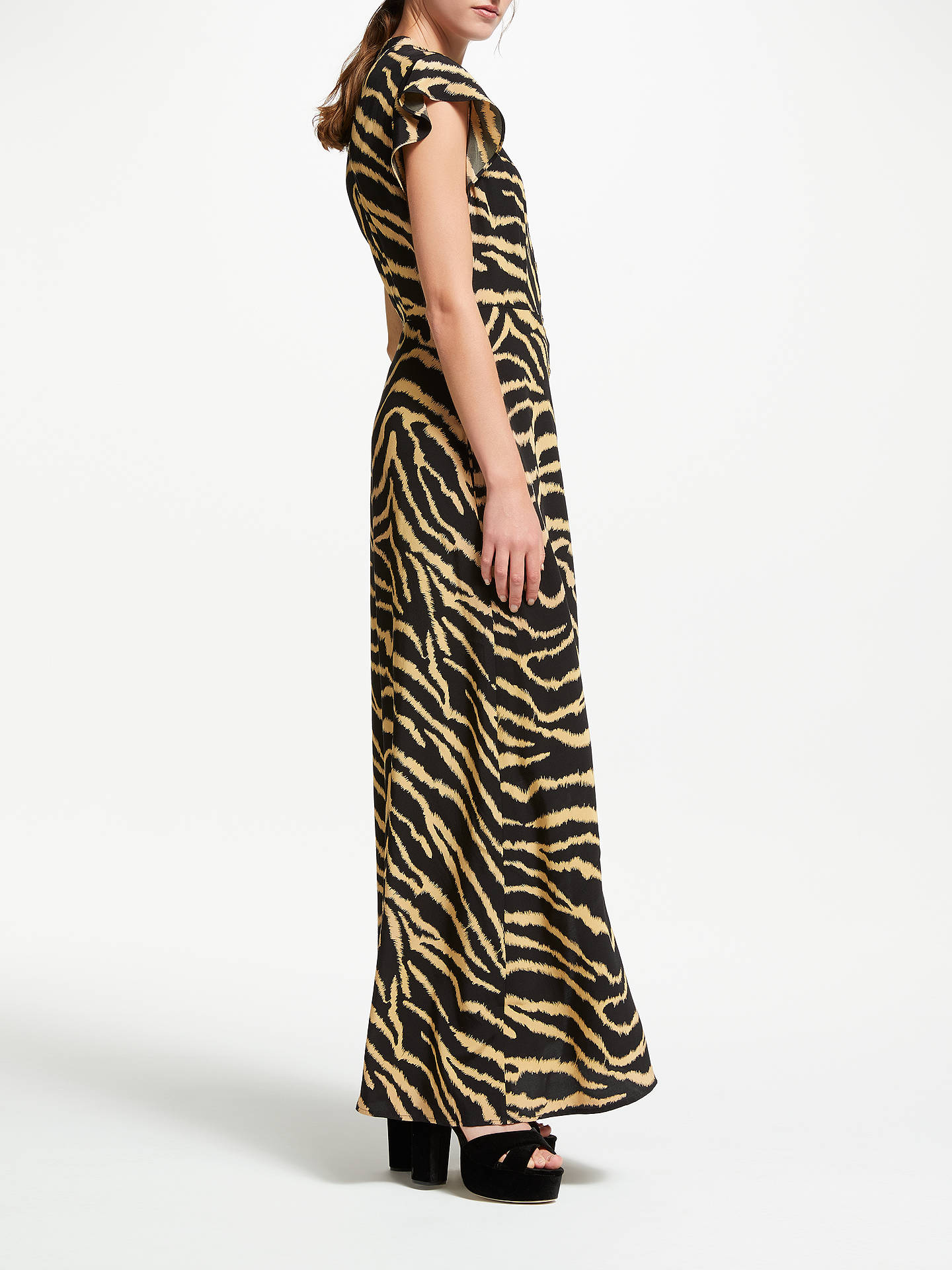 Buy Somerset by Alice Temperley Zebra Cap Sleeve Maxi Dress, Black/Multi, 16 Online at johnlewis.com