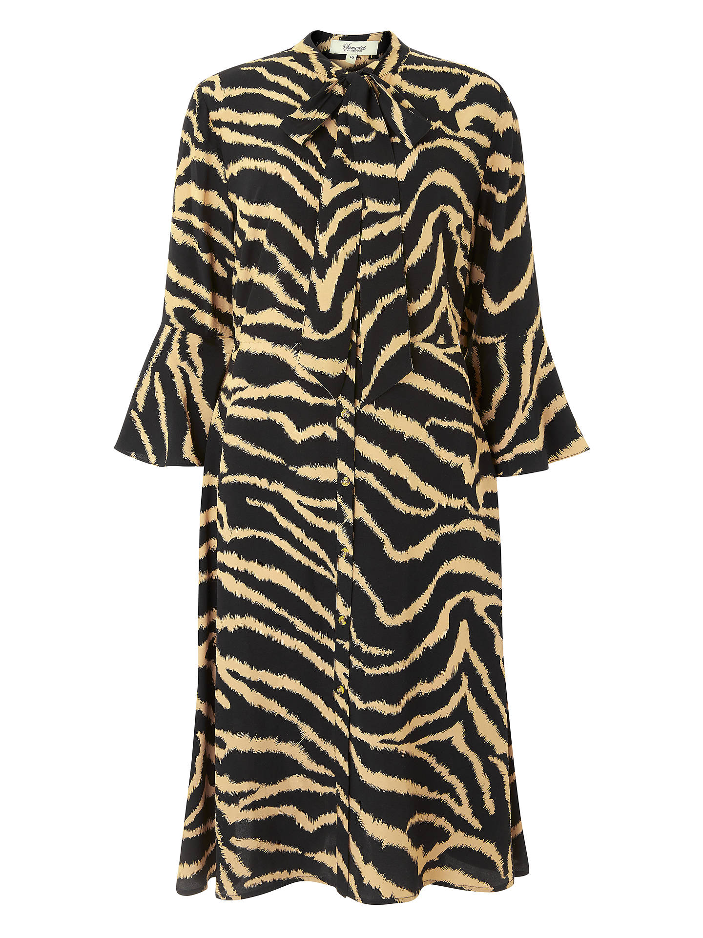 BuySomerset by Alice Temperley Zebra Long Sleeve Dress, Black/Multi, 10 Online at johnlewis.com