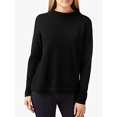 Pure Collection Bardot Jumper, Black