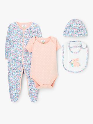 John Lewis   Partners Baby Floral Sleepsuit e3c0958767c