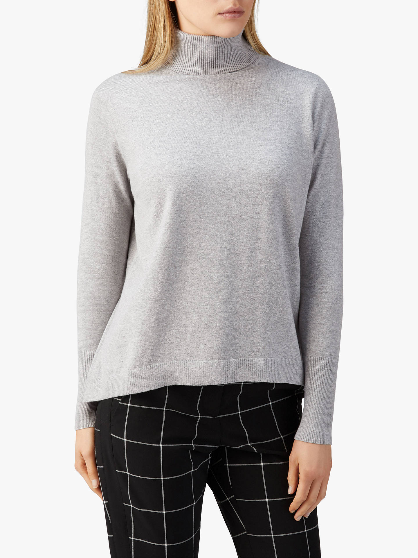 d3632e36e5a Pure Collection Merino Wool Polo Neck Jumper at John Lewis & Partners