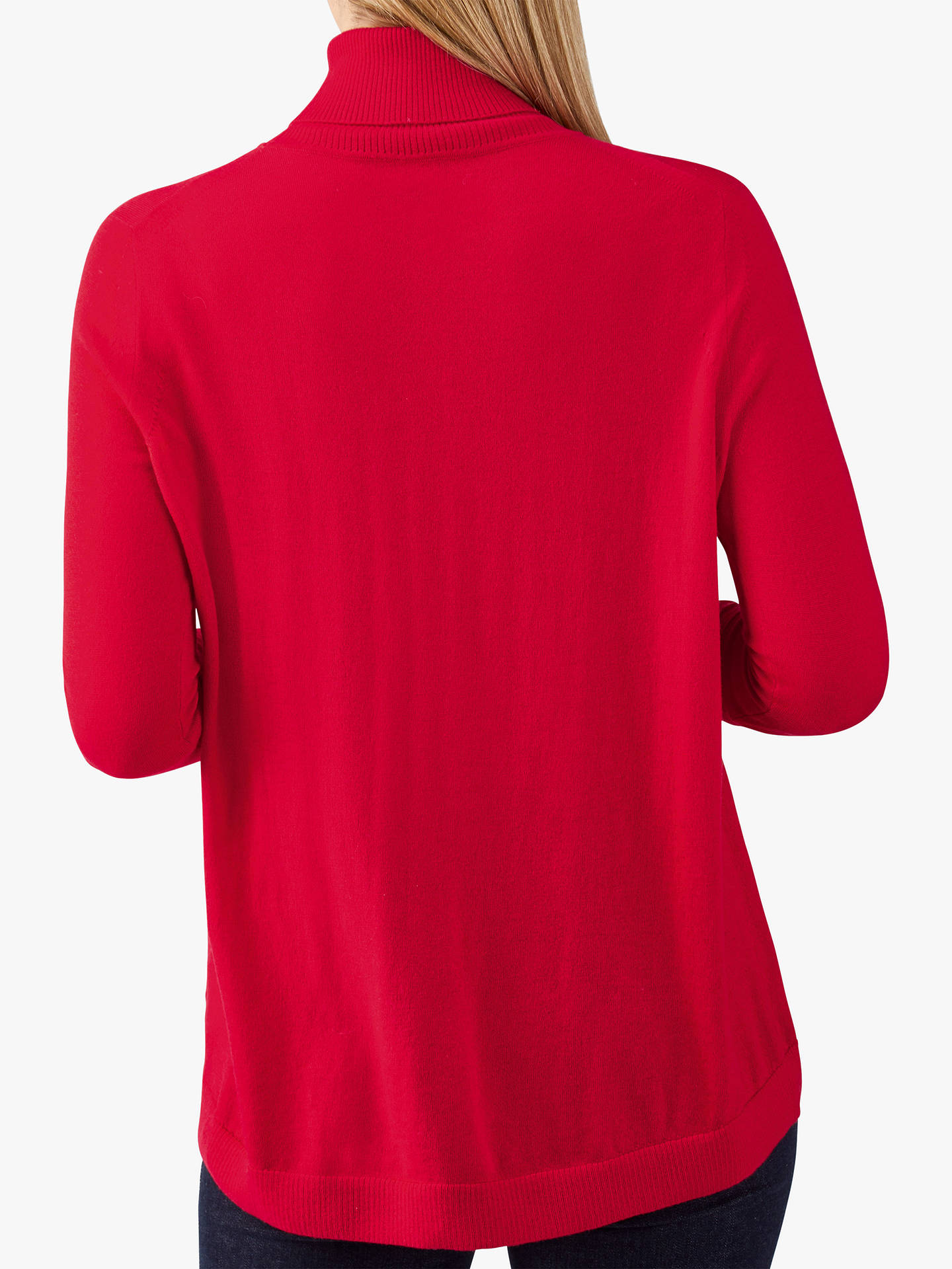 BuyPure Collection Merino Wool Polo Neck Jumper, Pillarbox Red, 10 Online at johnlewis.com