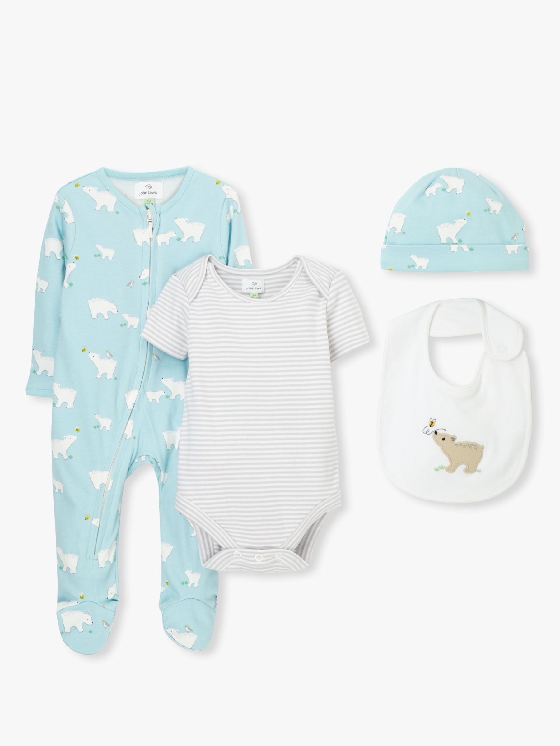 Baby Boys Car Themed Sleepsuit and Hat Set