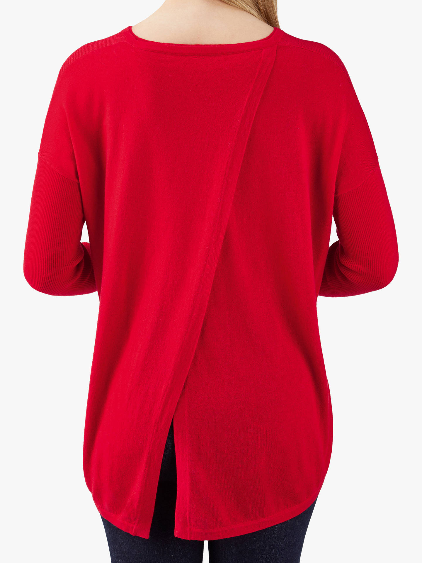 Buy Pure Collection Split Back Jumper, Pillarbox Red, 10 Online at johnlewis.com