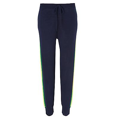 Wyse London Lucie Merino Wool Loungewear Trousers, Navy