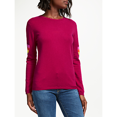 Wyse London Ines Heart Cashmere Jumper, Strawberry
