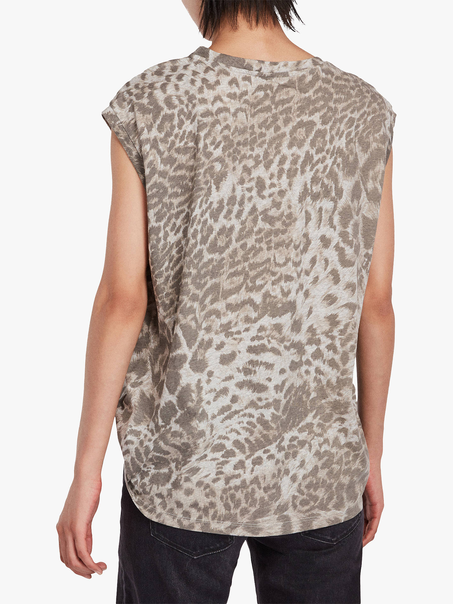Buy AllSaints Pardos Brooke T-Shirt, Light Grey Marl, L Online at johnlewis.com