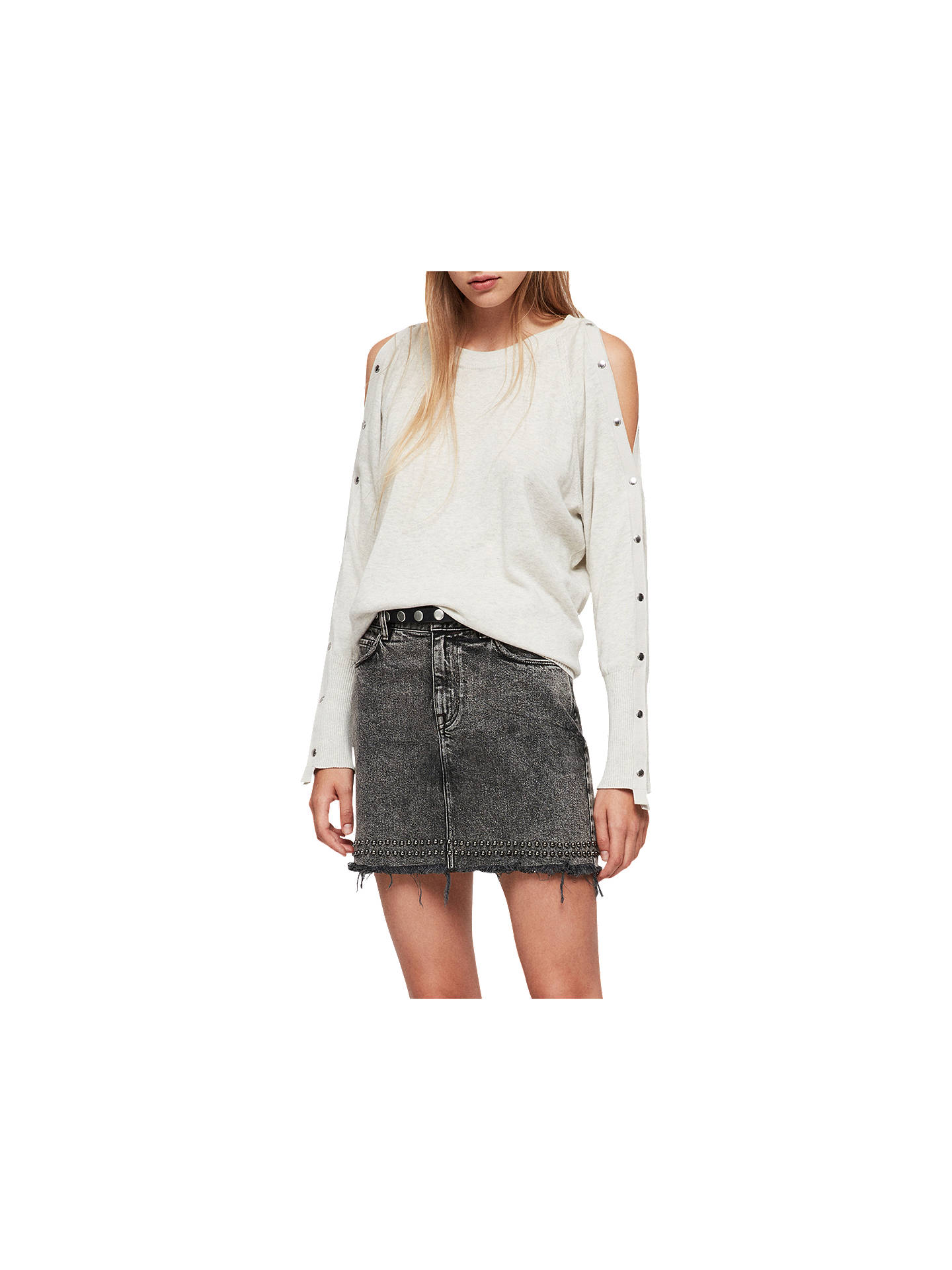 Buy AllSaints Suzie Jumper, Grey Silver, XS Online at johnlewis.com
