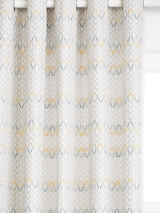 John Lewis & Partners Nova Pair Lined Eyelet Curtains