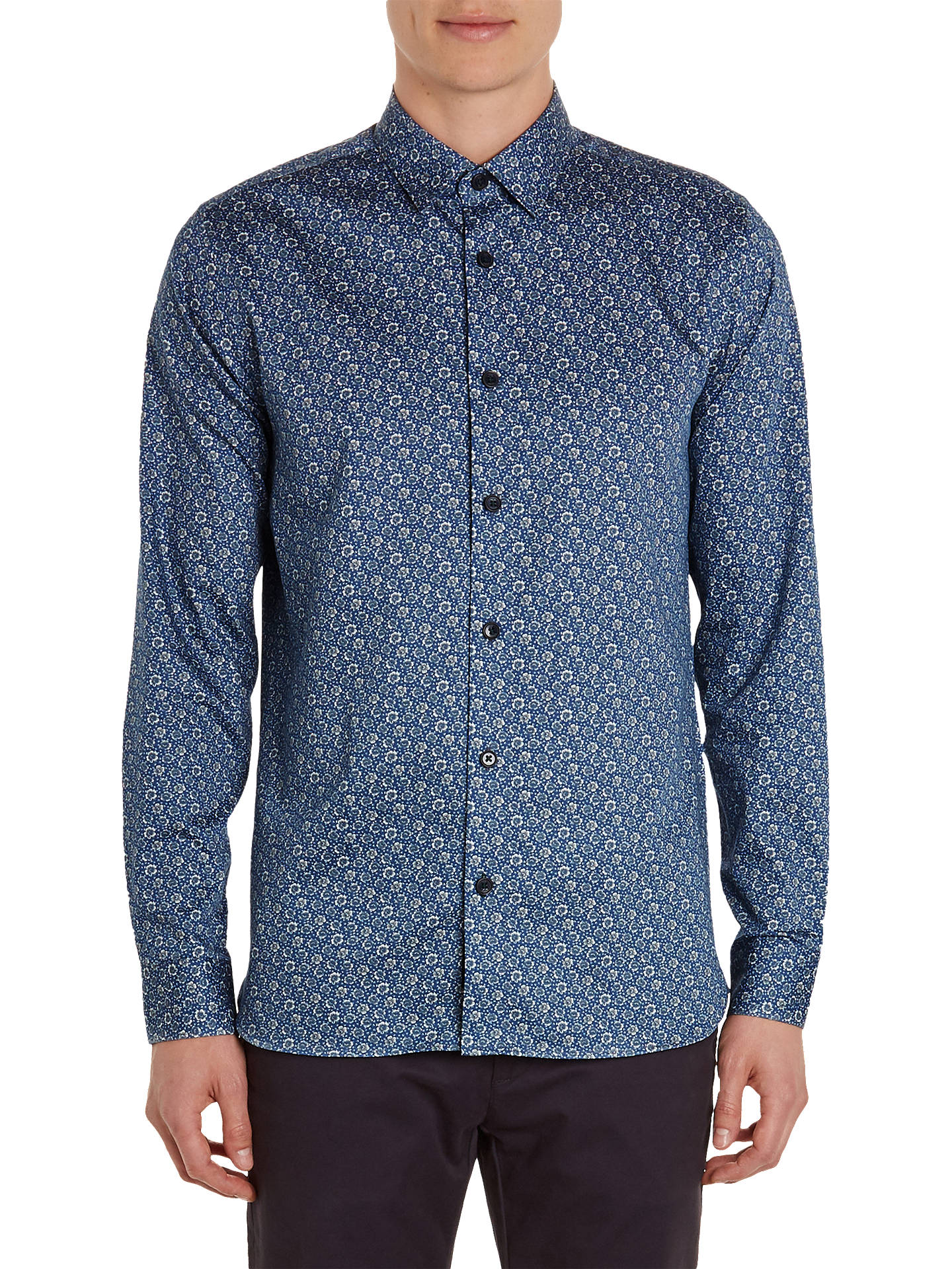 Buy Ted Baker Thornto Shirt, Mid Blue, 17 Online at johnlewis.com