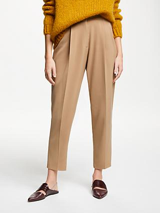 Modern Rarity Pleat Front Trousers, Brown