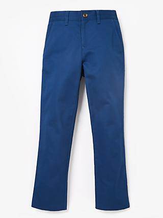 John Lewis & Partners Heirloom Collection Boys' Sateen Trousers, Blue