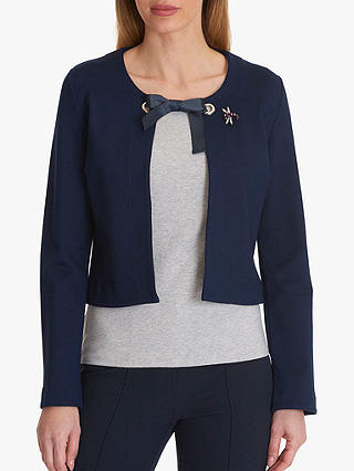 Buy Betty Barclay Jacket With Brooch, Peacoat Blue, 10 Online at johnlewis.com