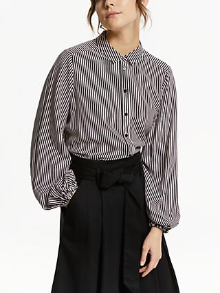 Somerset by Alice Temperley Stripe Button Through Blouse, Multi