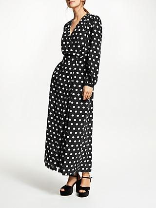 Somerset by Alice Temperley Large Dot Jumpsuit, Black/White