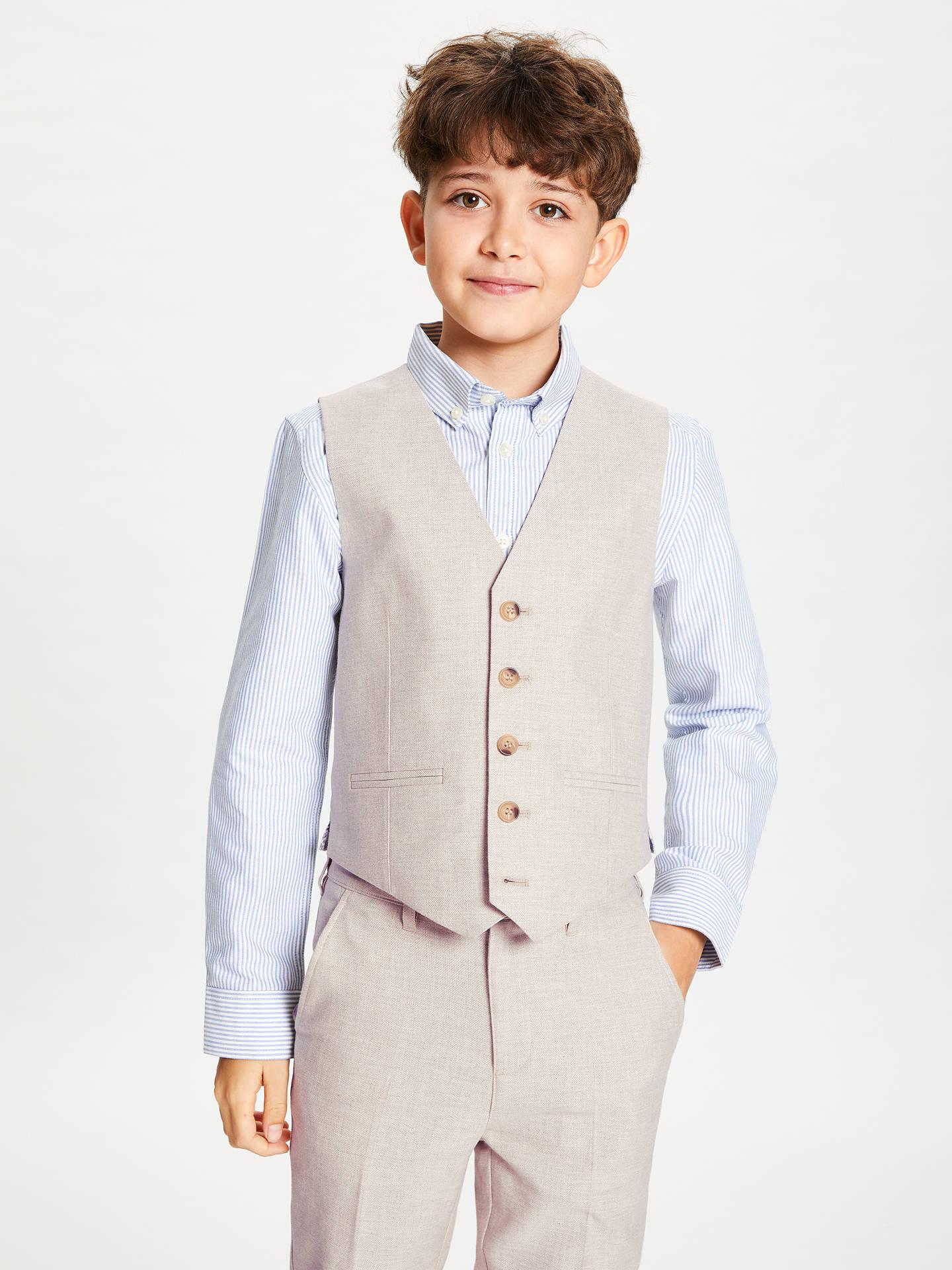 c0c1c2e8c30e3 John Lewis & Partners Heirloom Collection Boys' Linen Mix Suit ...