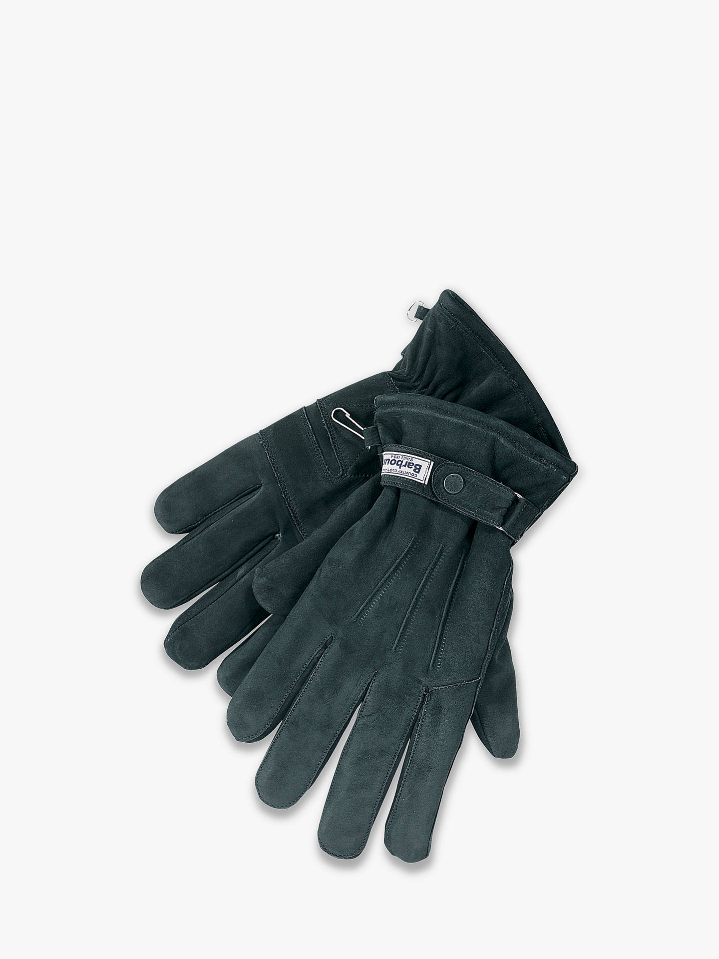Buy Barbour Thinsulate Gloves, Black, XL Online at johnlewis.com