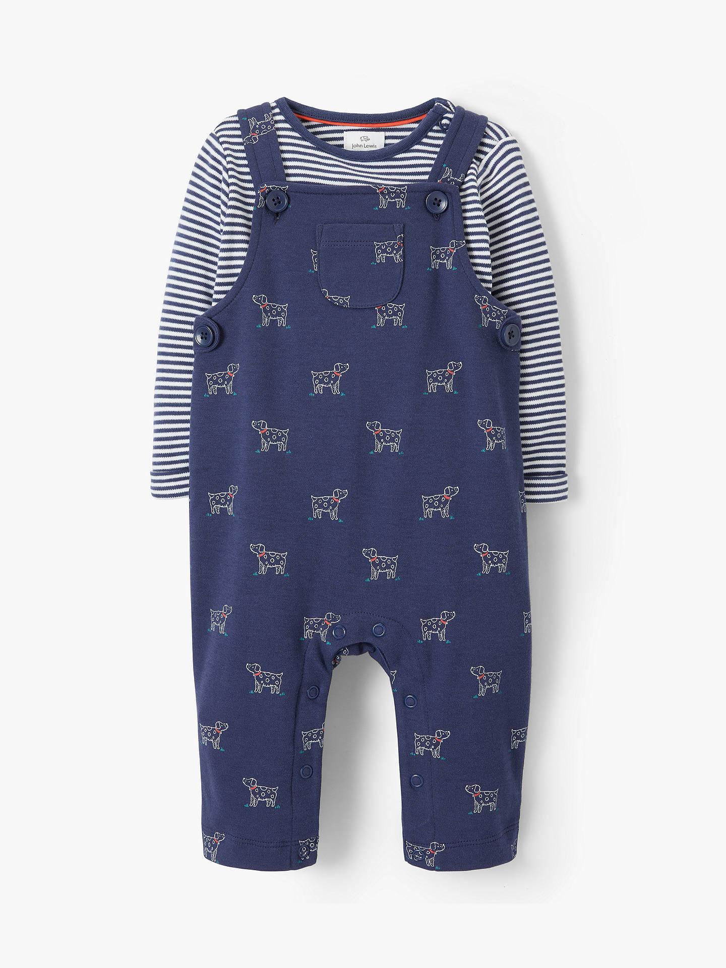 8bfca8f236 Buy John Lewis   Partners Baby Dog Print Dungaree Set