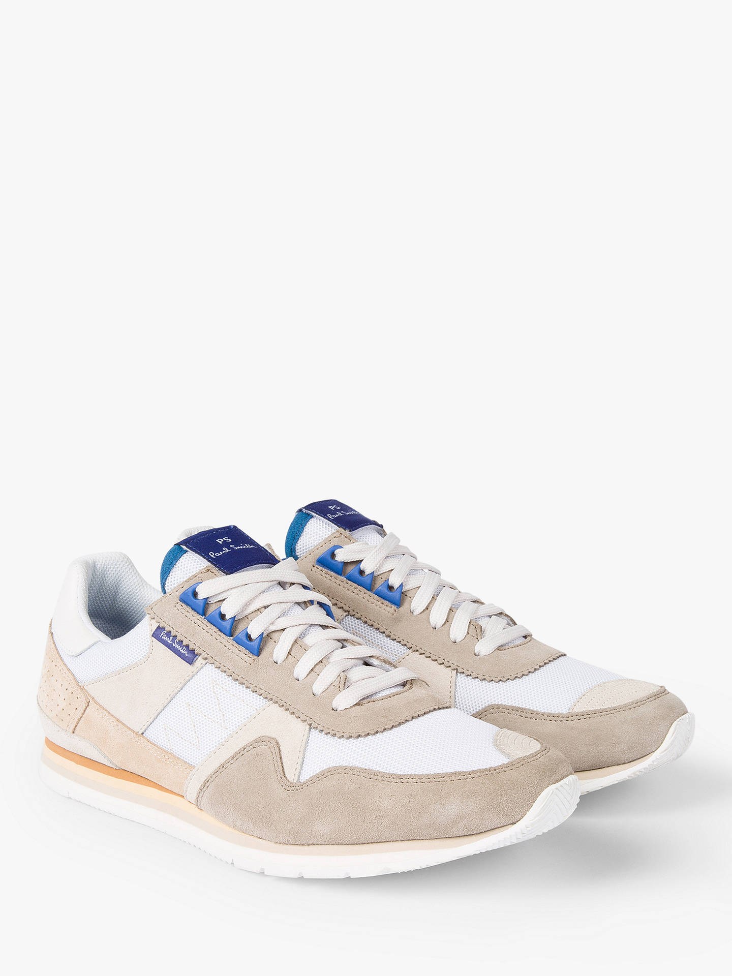 Buy PS Paul Smith Vinny Trainers, White, 9 Online at johnlewis.com
