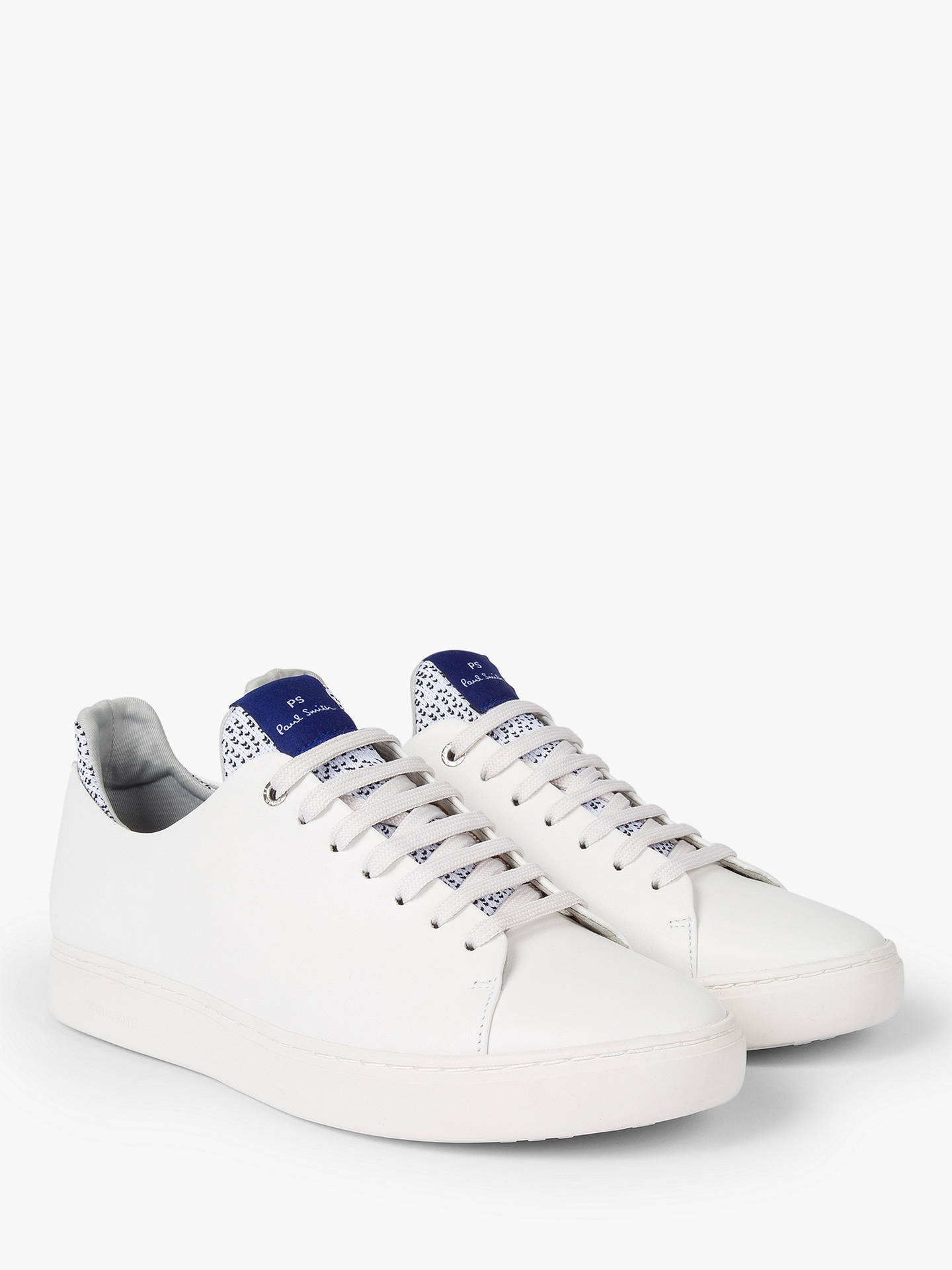 Buy PS Paul Smith Sonix Trainers, White, 9 Online at johnlewis.com