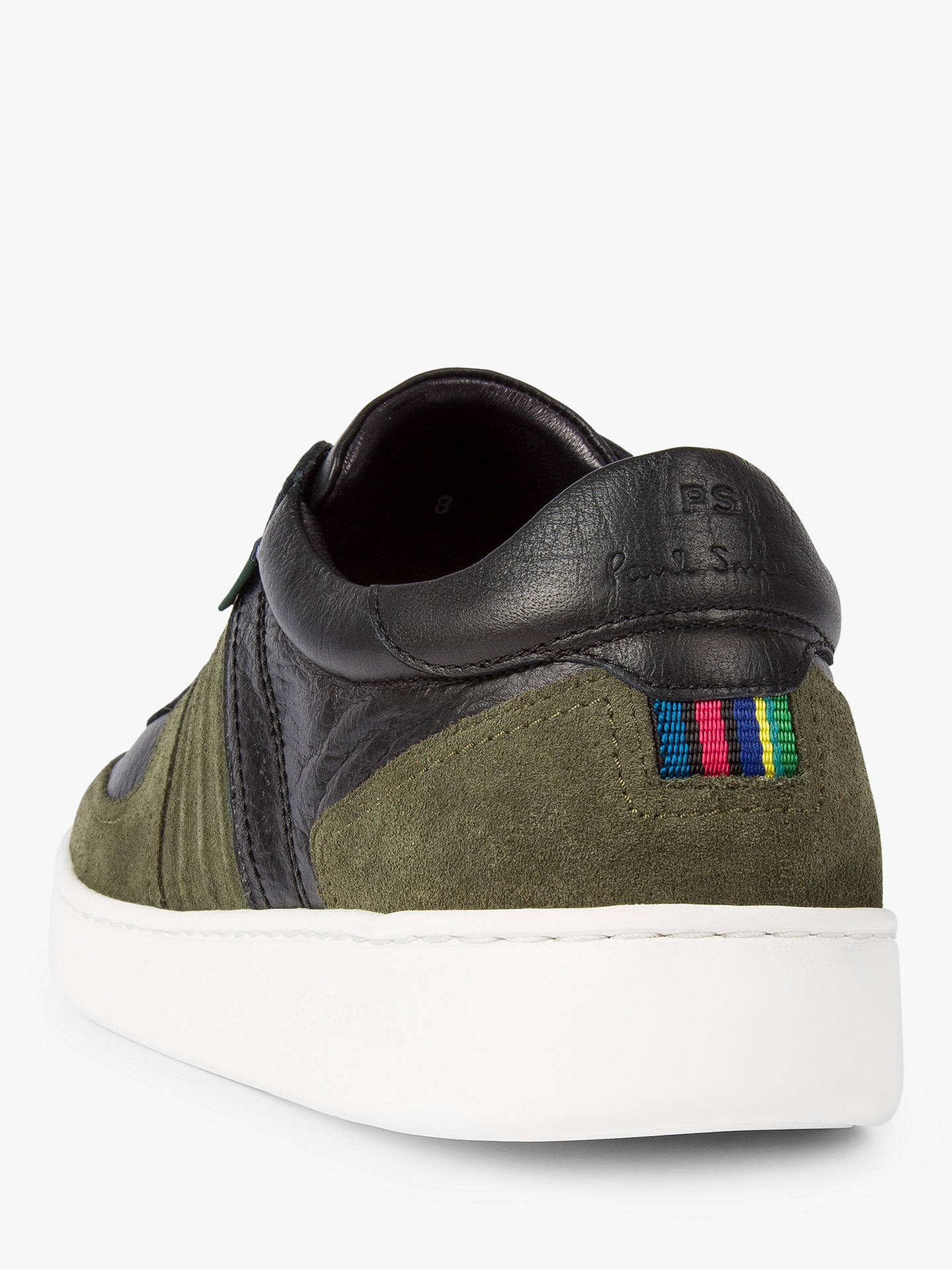 Buy PS Paul Smith Reemo Trainers, Khaki, 7 Online at johnlewis.com