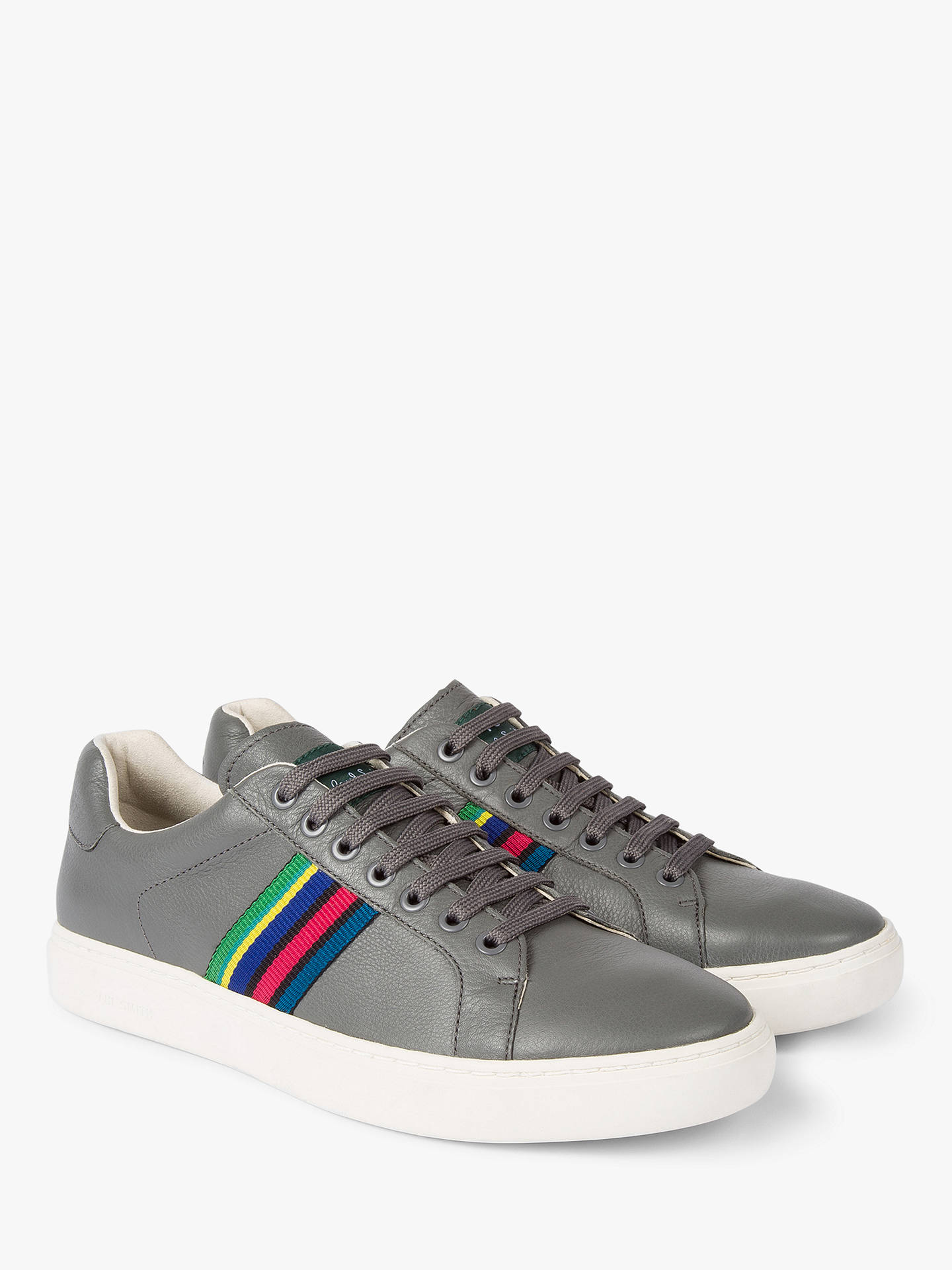 Buy PS Paul Smith Lapin Stripe Trainers, Anthracite, 11 Online at johnlewis.com