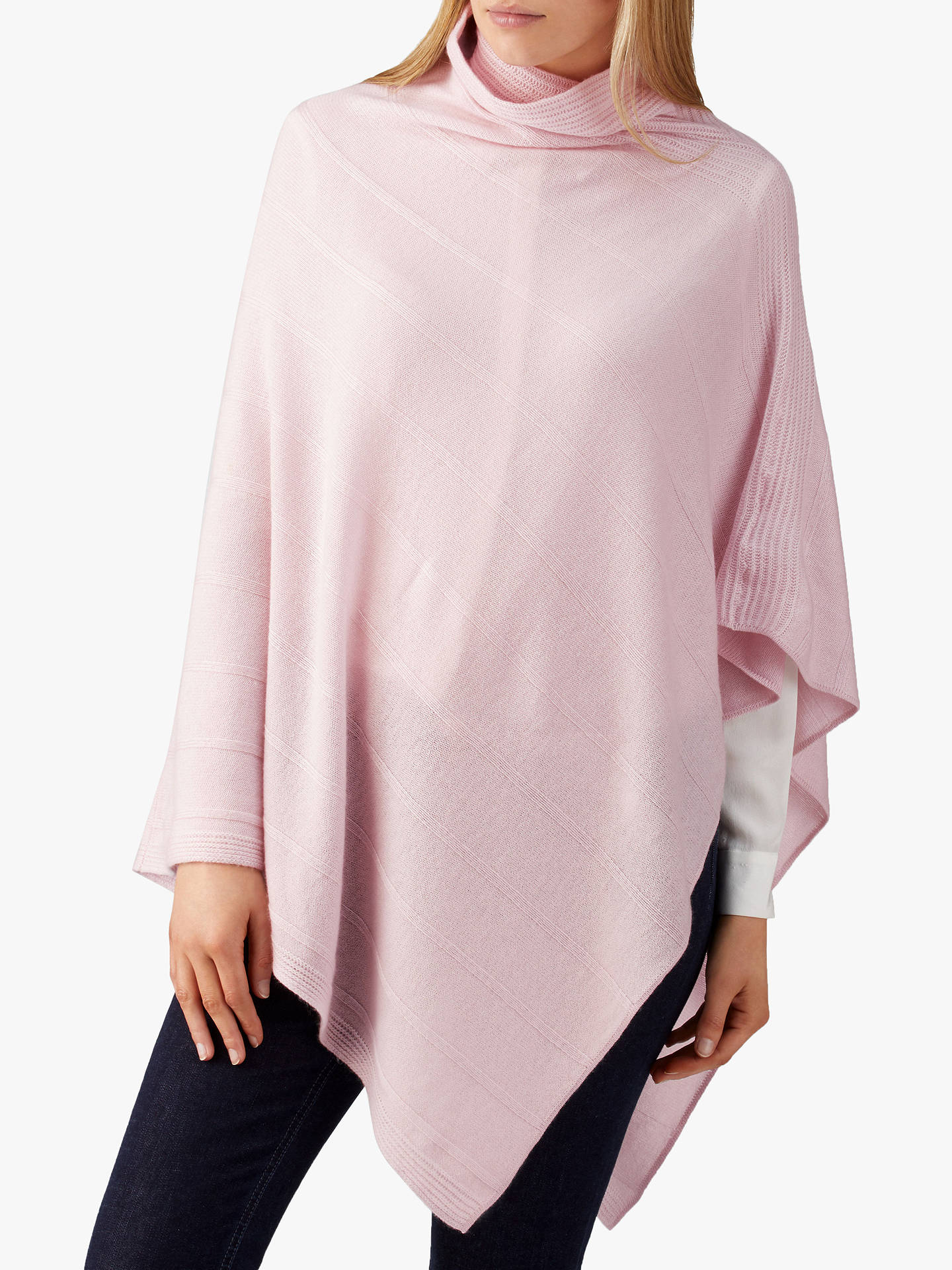BuyPure Collection Textured Poncho, Soft Oyster, One Size Online at johnlewis.com