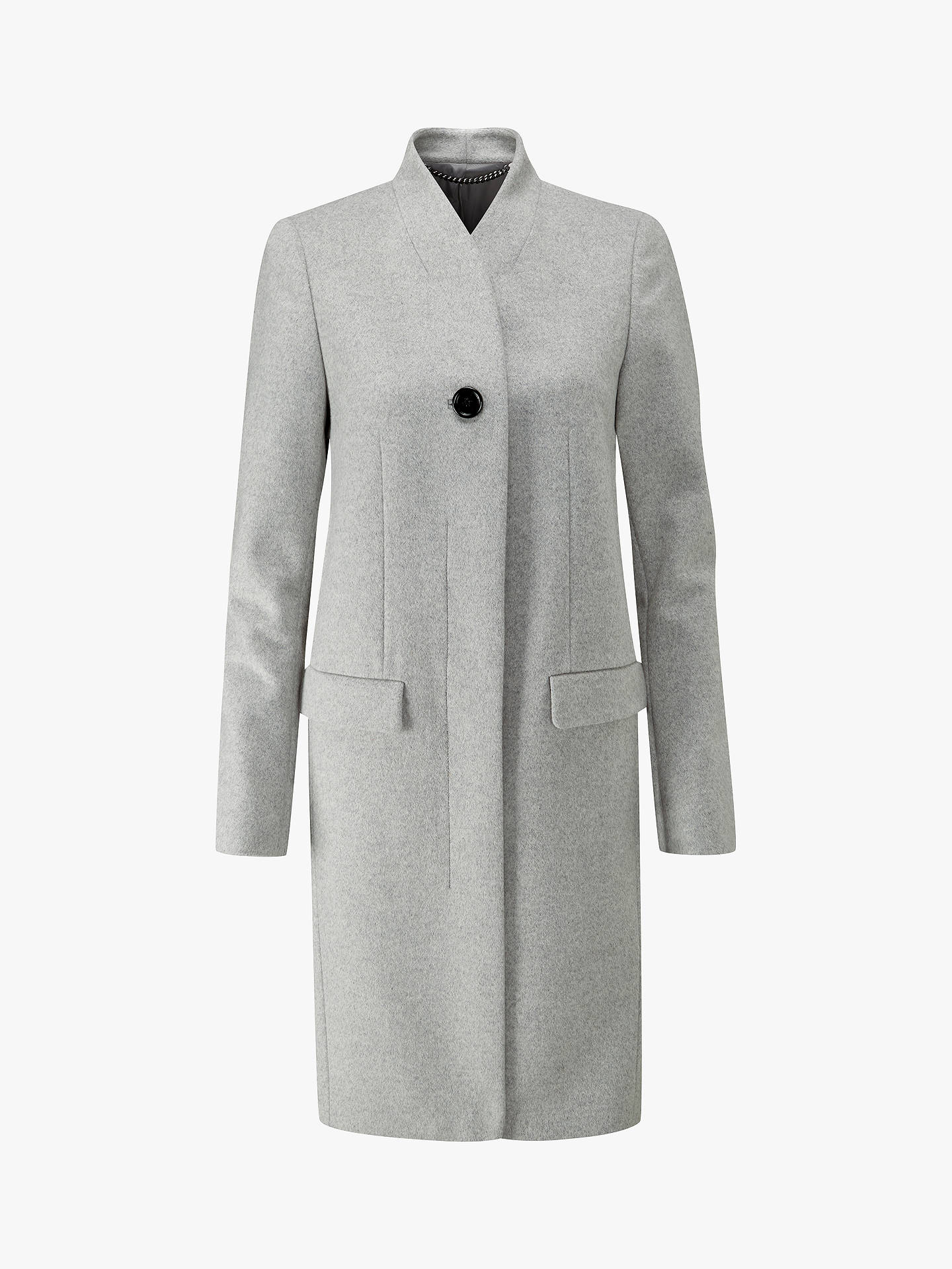 Buy Pure Collection Tailored Wool Blend Coat, Heather Grey, 8 Online at johnlewis.com